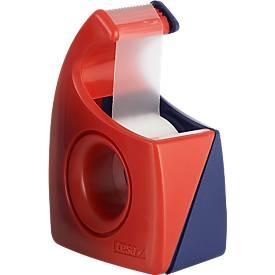 tesa® plakbandafroller manuel Easy Cut, 19 mm x 10 m, blauw/rood