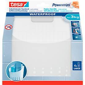 tesa Powerstrips Wave Korb groß, für Feuchträume, belastbar bis 3 kg, 1 Stück