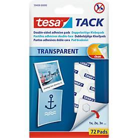 tesa Tack® Klebepads, transparent, doppelseitig klebend, 72 oder 200 Stck.