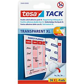 tesa Tack® Klebepads XL, transparent, doppelseitig klebend, 36 Stck.