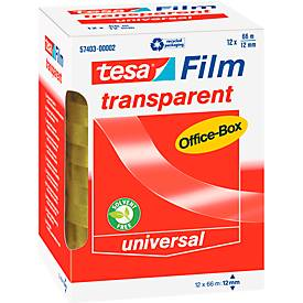 tesa® Film, ø 76 mm, 66 m, transparent