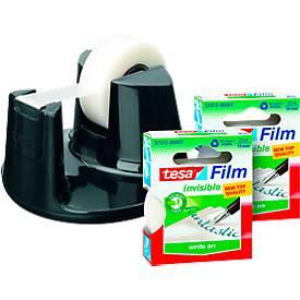 Image of tesafilm® Tischabroller Easy Cut Compact + 3 Rollen Klebefilm matt-unsichtbar