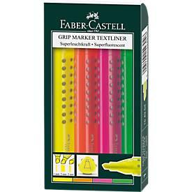 Textliner FABER CASTELL Grip, 4er-Set