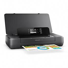 Tintenstrahldrucker HP OfficeJet 200, USB/Wi-Fi, tragbar, Netz-/Akku-Betrieb, bis A4