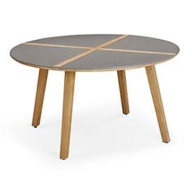 Tisch Barletta, rund, Ø 1400 mm, Grandis/betongrau