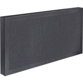 Tisch-Trennwand Akustika, Breite von 800 bis 1600 mm, Höhe 400 mm, für Büros