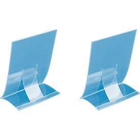 Tischaufsteller, Hartplastik, klappbar