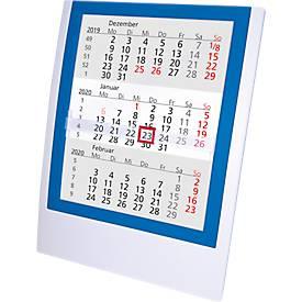 Tischkalender, deutsches Kalendarium, weiß/blau