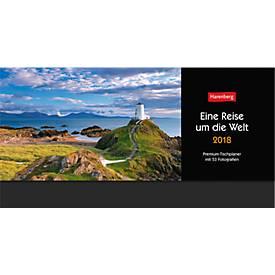 Tischkalender Eine Reise um die Welt, deutsches Kalendarium, 60 Blatt, 305 x 105 mm
