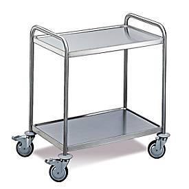 Tischwagen 2 Etagen, groß, 1000 x 600 mm