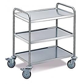 Tischwagen 3 Etagen, groß, 1000 x 600 mm