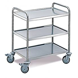 Tischwagen 3 Etagen, mittel, 800 x 500 mm