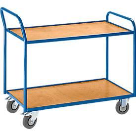 Tischwagen, gekröpfter Schiebebügel, 2 oder 3 Etagen, Traglast 300 kg