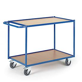 Tischwagen, Ladefl. L800 x B500 mm, 2 Etagen