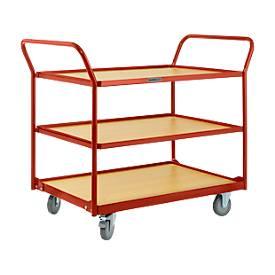 Tischwagen mit 3 Etagen, 1236 x 700 x 1032 mm
