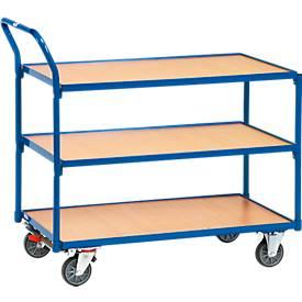Tischwagen mit 3 Etagen, 850 x 500 mm