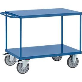 Tischwagen mit Stahlblech-Plattformen,  L 1197 x B 609 x H 900 mm