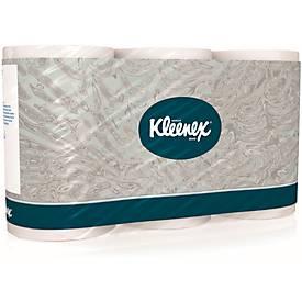 Toiletpapier Kleenex, 3-laags wit 3x12 R
