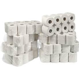 Toilettenpapier, 2-lagig, 64 Rollen mit jeweils 250 Blatt, Zellstoff, naturweiß