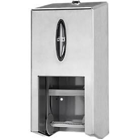 Toilettenpapierspender Tork®, für 2 hüllenlose WC-Papierrollen, mit Sichtfenster, abschließbar