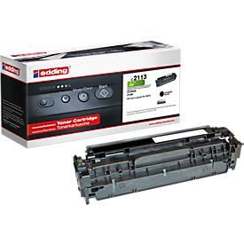 Toner edding compatibel voor HP 312A, HP CF380A, zwart, 2400 pagina's, HP 312A, HP CF380A, 2400 pagina's