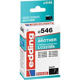 Toner Edding voor Brother LC223BK, zwart
