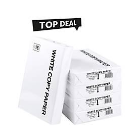 Top Deal Kopierpapier WhiteCopy, DIN A4, 80 g/m², reinweiß, 1 Karton = 10 x 500 Blatt