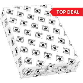 Top Deal Office Point kopieerpapier, A4 formaat, 80 g/m², wit, 1 doos = 10 x 500 vellen