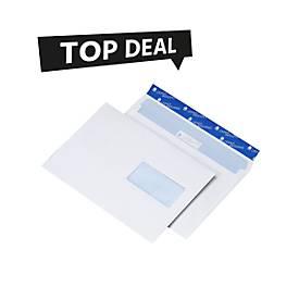 Top Deal Sparset Briefumschläge, DIN C5, haftklebend, mit Fenster rechts, 500 Stück