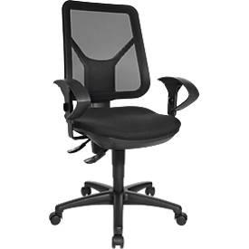 Topstar Bürostuhl ERGO NETZ, Permanentkontakt, ohne Armlehnen, Netz-Rückenlehne, Bandscheibensitz, schwarz