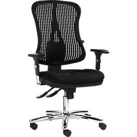 Topstar Bürostuhl Head Point, ohne Armlehnen, Synchronmechanik, 3D-Netzrücken