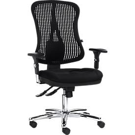 Topstar Bürostuhl HEAD POINT, Synchronmechanik, ohne Armlehnen, hohe 3D-Netzrückenlehne, Muldensiz