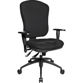 Topstar Bürostuhl WELLNESS 300, Synchronmechanik, ohne Armlehnen, hohe Rückenlehne, Muldensitz