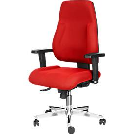 Topstar bureaustoel FEEL GOOD, synchroonmechanisme, zonder armleuningen, hoge rugleuning, grote kuipzitting, rood