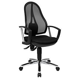 Topstar OPEN POINT P Plus bureaustoel, permanent contact, net rugleuning, met armleuningen, zwart