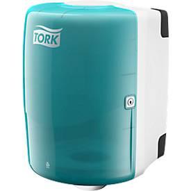 TORK dispenser voor grote rollen, turkoois/wit