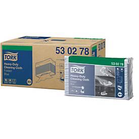 TORK® Premium 530 reinigingsdoekjes, 5 zakken van 100 stuks, blauw