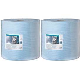 Tork reinigingsdoekjes, 3-laags, TAD-papierkwaliteit, 370 x 340 mm per vel, blauw, 2 rollen, 370 x 340 mm per vel