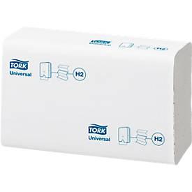TORK® Essuies mains Xpress, interfold, 2 épaisseurs, blanc, 213 x 235 mm