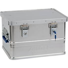 Transportbox Alutec CLASSIC 30, Aluminium, 30 l, L 430 x B 335 x H 270 mm, Zylinderschlösser