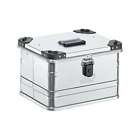 Transportbox Premium, Aluminium, mit Stapelecken