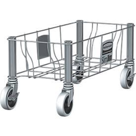 Transportroller aus Edelstahl, für Abfallbehälter Slim Jim®