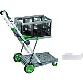 Transportwagen CLAX®, inkl. 46 l Klappbox, plus 1.000 gratis Briefumschläge