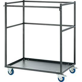 Transportwagen, Stahlrohr-Gestell, mit Bodenplatte, für 5 Stehtische
