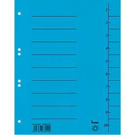 Trennblatt, Intensiv-Karton, DIN A4, blau