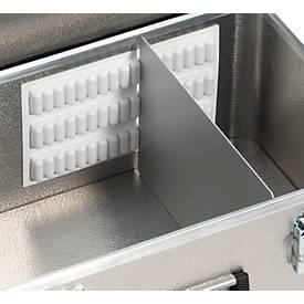 Trennwand-Einsatz für Transportbox, Leichtmetall, 3 teilig