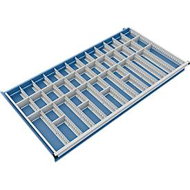 Trennwand mit 11 Längs- und 28 Querteiler für Schubladenschrank 1300 mm breit