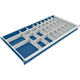 Trennwand mit 8 Längs- und 22 Querteiler für Schubladenschrank 1130 mm breit