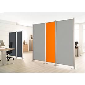 Trennwand, Silent Line Plus, 550 x 1700 mm, hellgrau