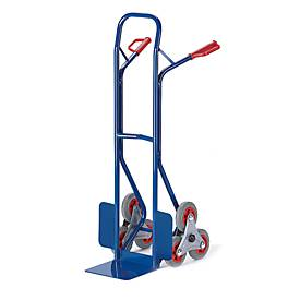 Treppenkarre 3er-Stern, Tragkraft 150 kg, Vollgummi-Bereifung